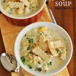 Chicken Pot Pie Soup by AIMEE @ SHUGARYSWEETS