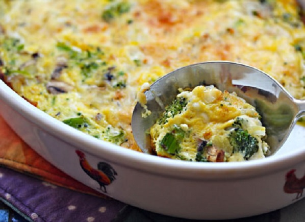 Egg and Broccoli Casserole in slow cooker