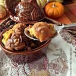 Caramel Pecan Pumpkin Bread Pudding