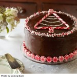 Peppermint Decorated Chocolate  Cake